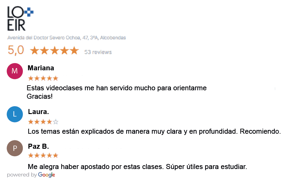 Opiniones videoclases